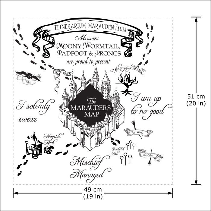 The Marauder S Map Harry Potter V1 Vinyl Wall Art Decal Wd 0786