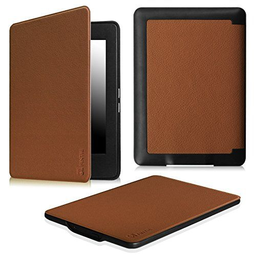 Kindle Voyage Case Black Genuine Leather Perfect Fit Origami Standing Cover with Auto Wake//Sleep for  Kindle Voyage