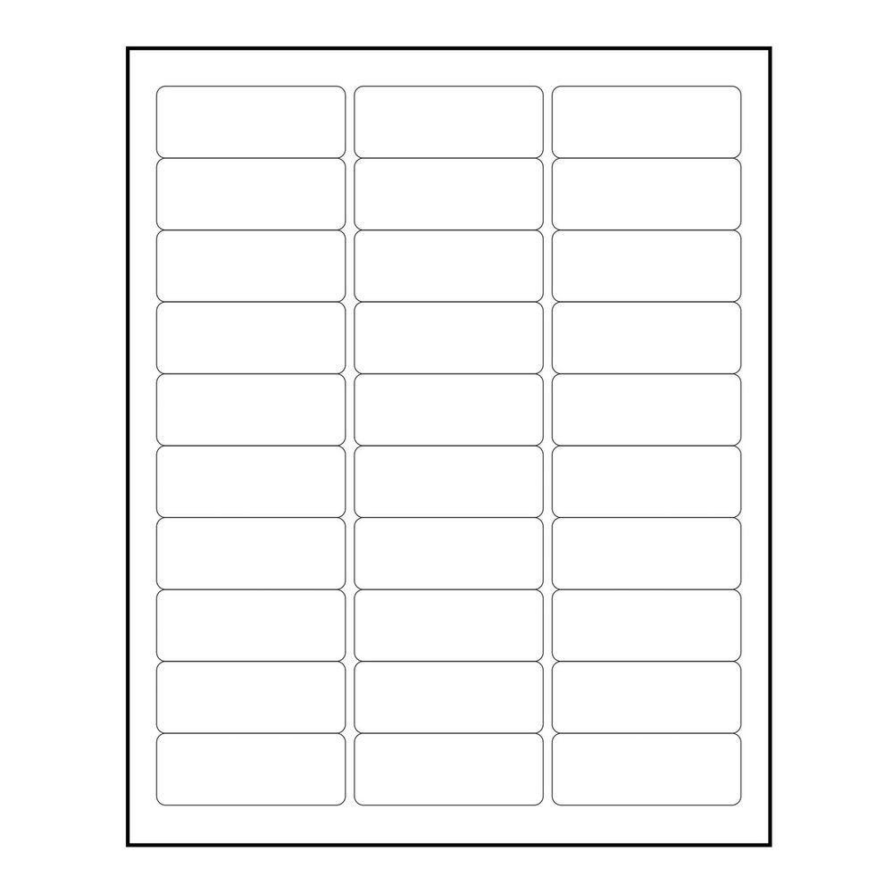Blank Address Label Template 3000