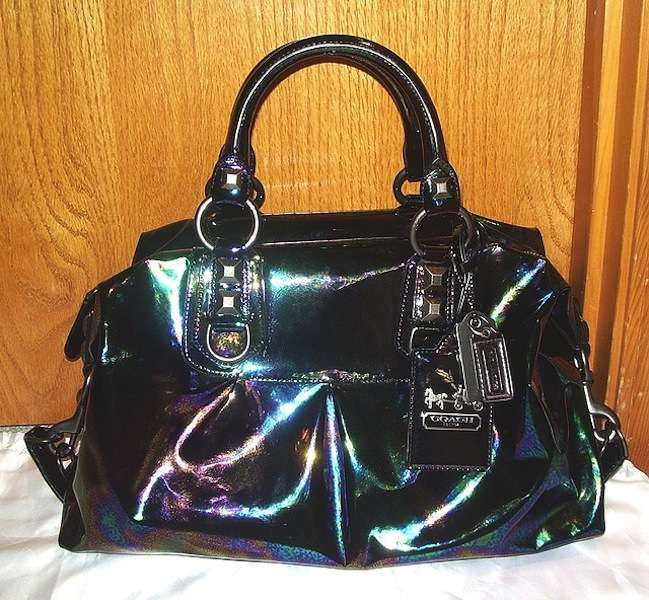 Oil spill inspired Coach purse <3