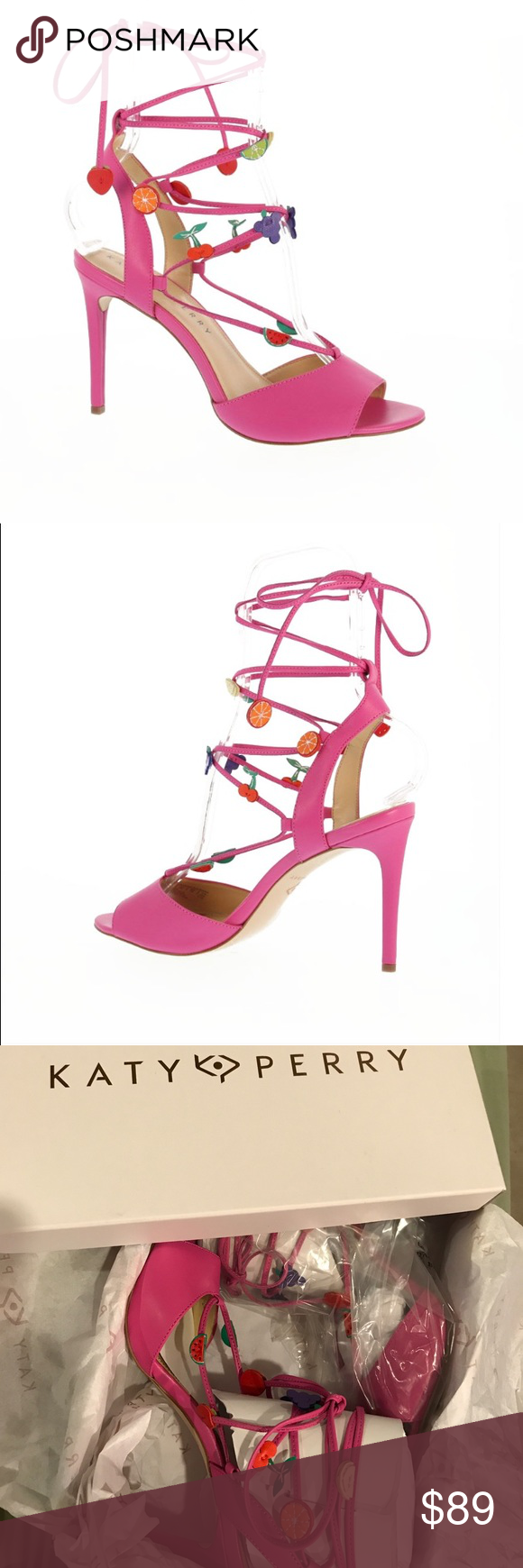 fefbe09f2970 Katy Perry Carmen Lace Up Pump Strappy tutti-frutti sandals made for  kicking up your heels and Hav ana good time. 3.7