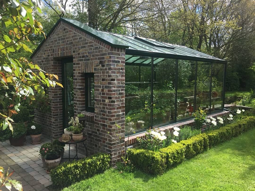 I've never seen a brick greenhouse before #HomeGalore ...