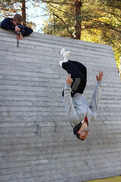 Filminnspilling i Furuset parkourpark. Opplev Oslo - parkour med Vidar og Tor! | Flickr - Photo Sharing!