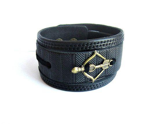 Mens Arrow Bracelet Mens Leather Cuff Bracelet Mens Arrow Mens
