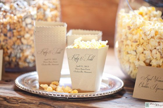 Celebrate Your Special Day With A Wedding Popcorn Bar Or Gourmet Favors From Poptions