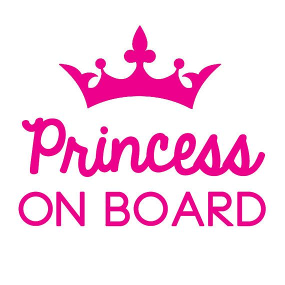 Non Personalised Child//Baby On Board Car Sign ~ Our Little Princesses ~ Pink