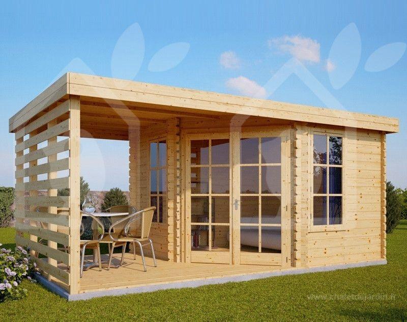 Abri De Jardin Aisne Plus 9m 3x3 28mm Chalet Garden Cabins Garden Log Cabins Modern Log Cabins