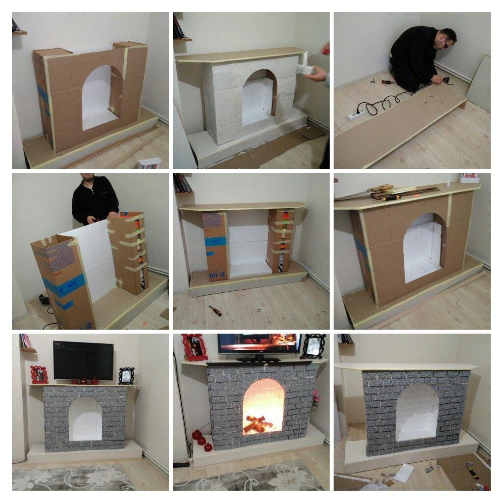 Aprende hacer chimeneas de cart n paso a paso decoracion - Hacer chimenea decorativa ...