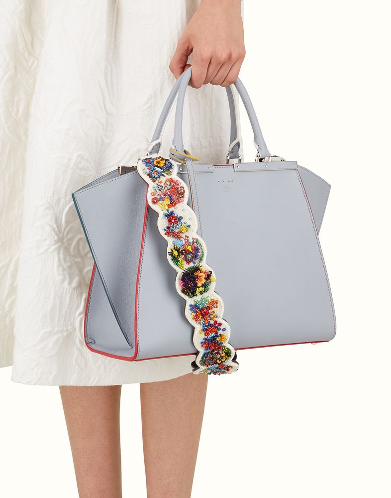 0ba19ad47ee8 FENDI STRAP YOU - Shoulder strap in embroidered white canvas ...