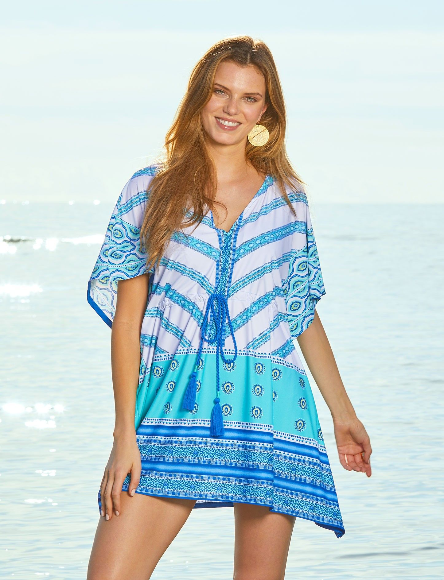 Cabana Life Bondi Beach Tie Waist Cover Up 50 Uv Protection Upf Clothing