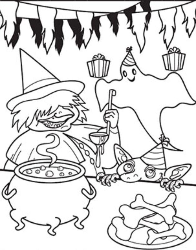 Dibujos de brujas para imprimir en halloween - printable witch ...