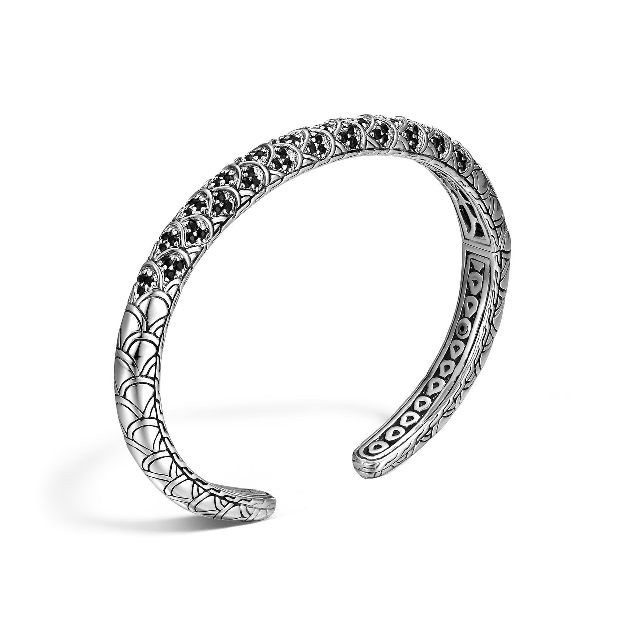 John Hardy Cuff With Diamonds S White diamond xTBn3OXmnj