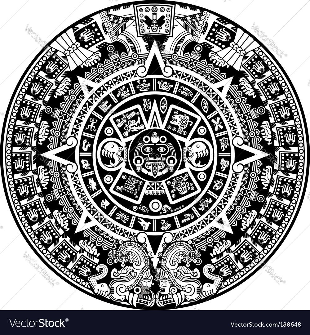 Aztec Vector Image On Aztec Calendar Aztec Tattoo