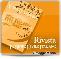 """Copia Omaggio Della Rivista """"Lo Stato Civile Italiano"""""""