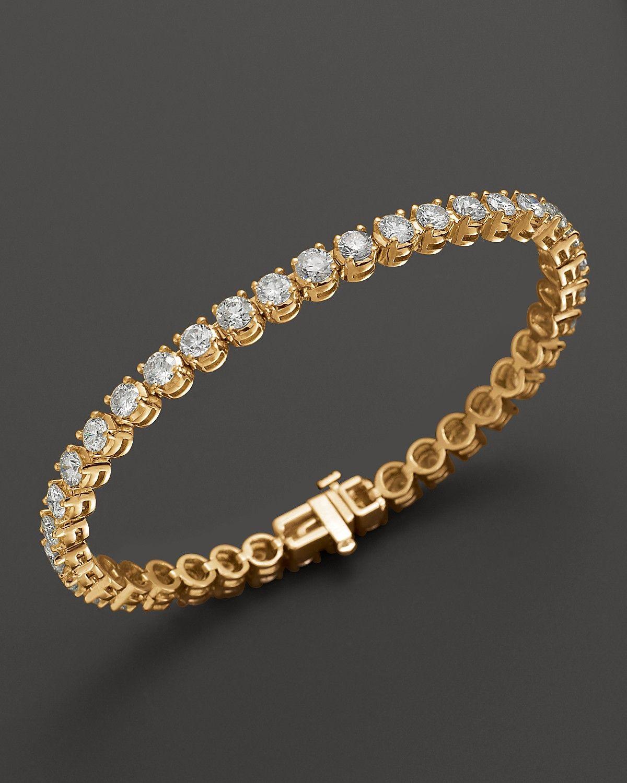 Certified Diamond Tennis Bracelet In 14k Yellow Gold 2 50 10 0 Ct T W Bloomingdale S Tennis Bracelet Diamond Jewelry Bracelets Gold Fine Jewelry Bracelets