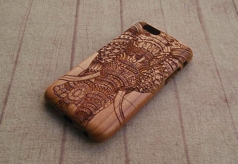 wooden elephant coque iphone 6
