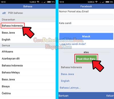 Panduan Cara Mendaftar Facebook Baru Lewat Hp Android Dengan Cepat Tanpa Nomor Telepon Yakni Buat Akun Fb Pake Email Gmail Te Facebook Persandian Nomor Telepon