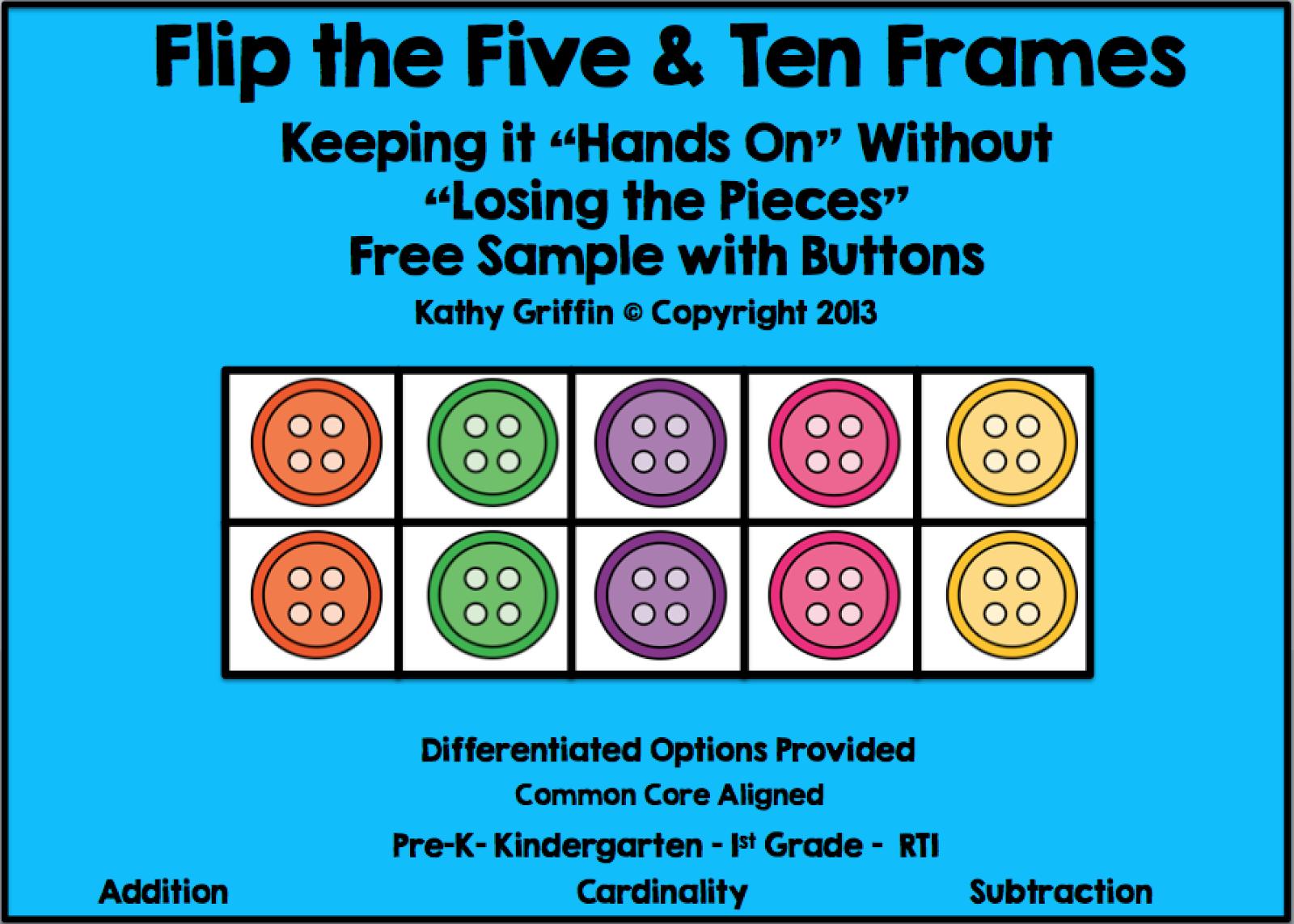 FREE Printable Pete the Cat Five & Ten Frame Games via Kathy ...