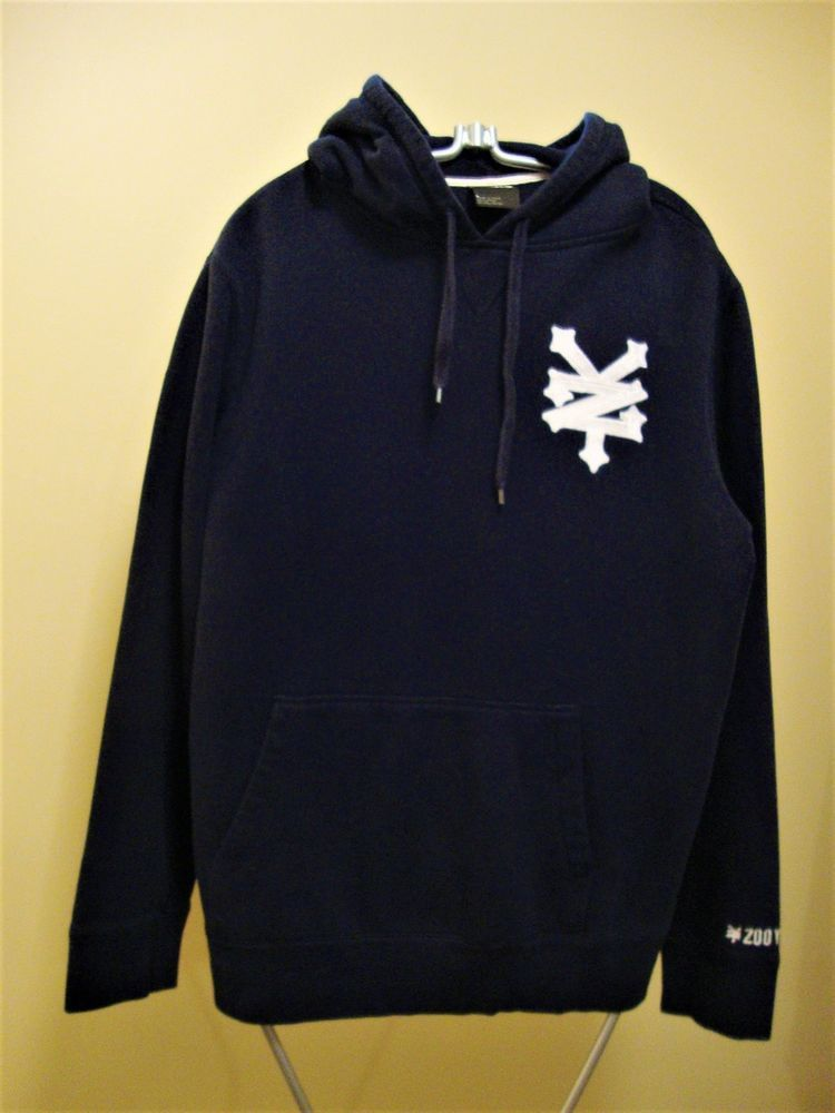 a07a8c0193 Zoo York Men s Fleece-lined Pullover Hoodie in Navy Blue - Size L  fashion