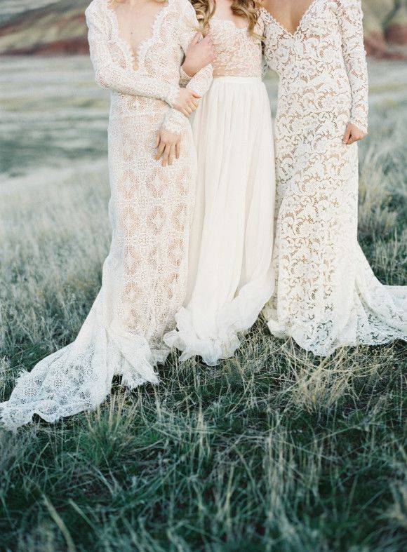 Lace Wedding Gowns by Emily Riggs   Wedding Sparrow   Michael Radford Photography
