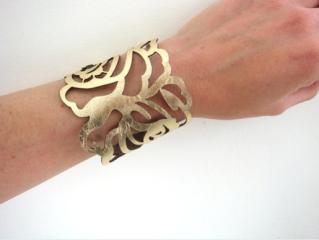 Laser cut leather cuff by EmilydeMolly