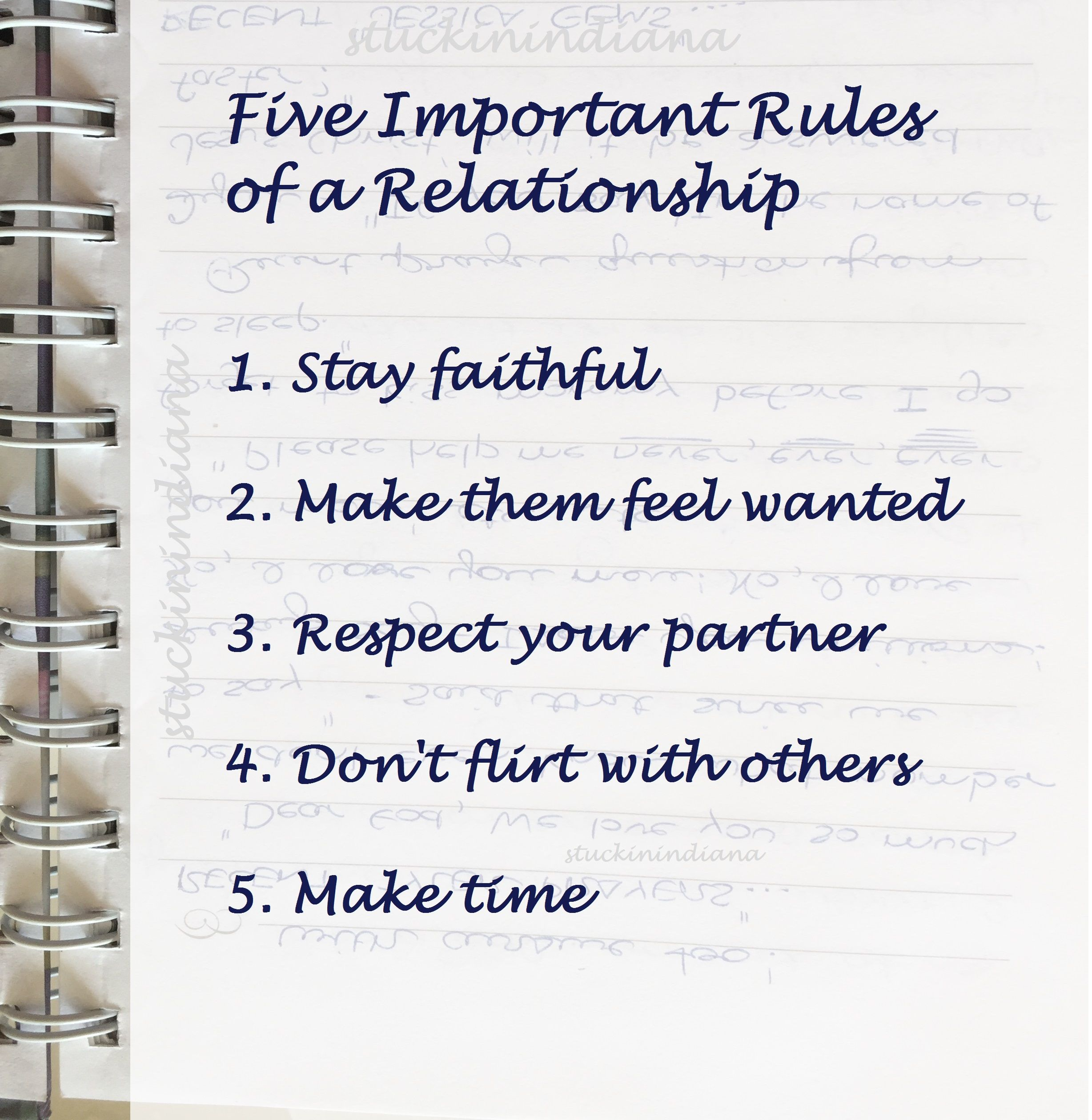 Five Important Rules Of A Relationship 1 Stay Faithful 2 Make