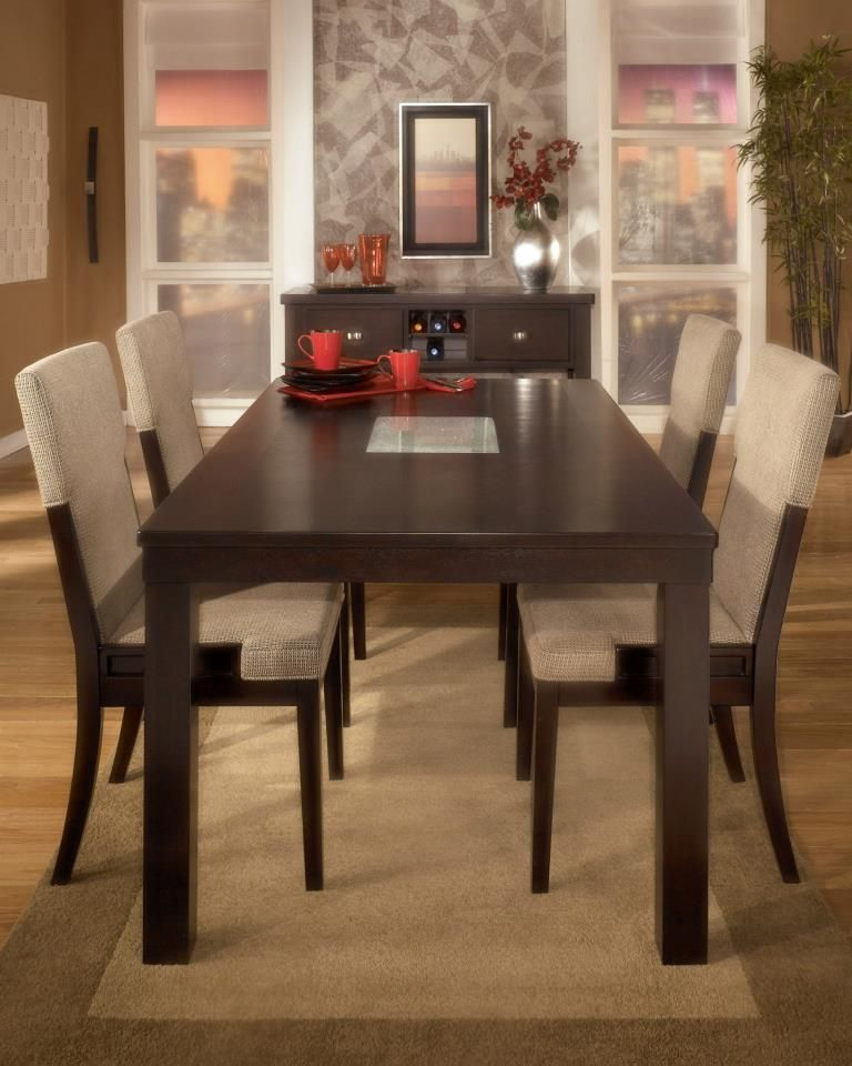 Ashley Ocean Park Dining Collection Creating The Perfect Dining Space Environment Allows You To E Dining Contemporary Design Rectangular Dining Table