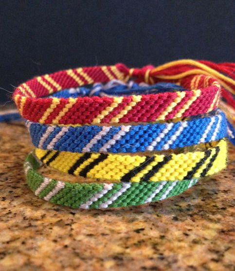 I used to make these types of bracelets ALL THE TIME. Why didn't I EVER think of this?!
