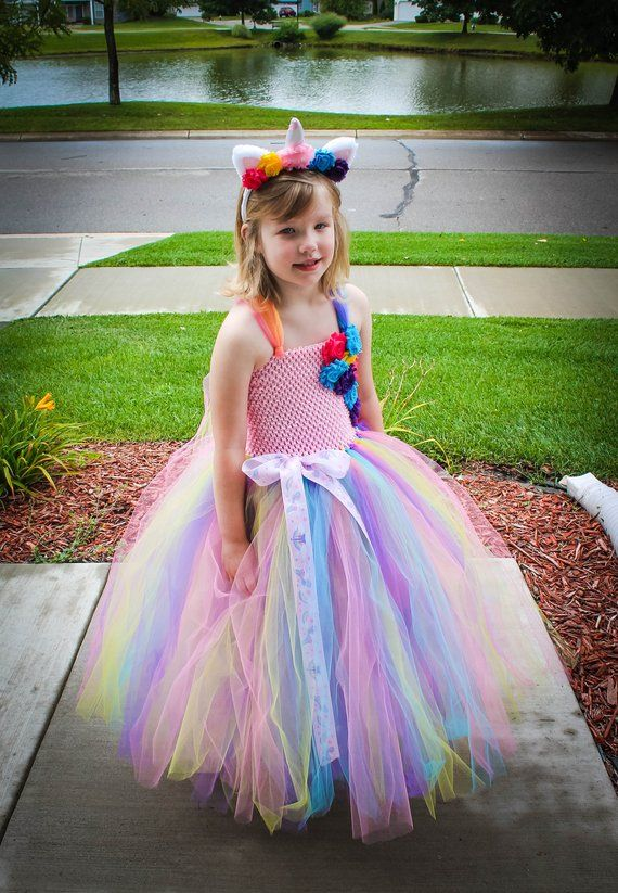 9103fded0c Unicorn tutu dress. Unicorn Costume. Unicorn Pageant dress. Unicorn  Birthday dress. Unicorn Hallowe