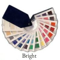 Bright color swatch from Tonal color analysis - 45 fabulous colors #color swatch fan