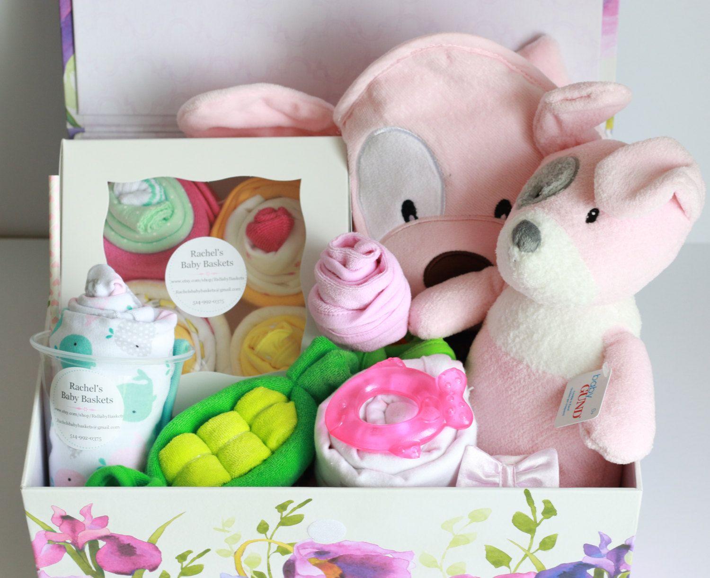 Baby girl gift basketunique baby gift memory box hooded