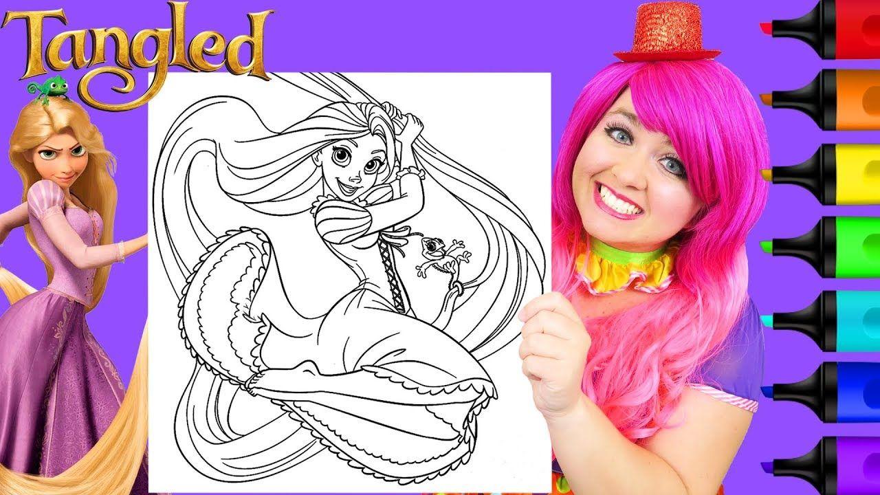 Coloring Rapunzel Tangled Disney Princess Giant Coloring Page Prismacolo Disney Tangled Disney Colors Cute Tortoise