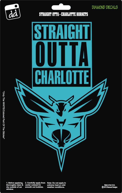 Straight Outta Charlotte Hornets NBA Basketball Logo Decal ...