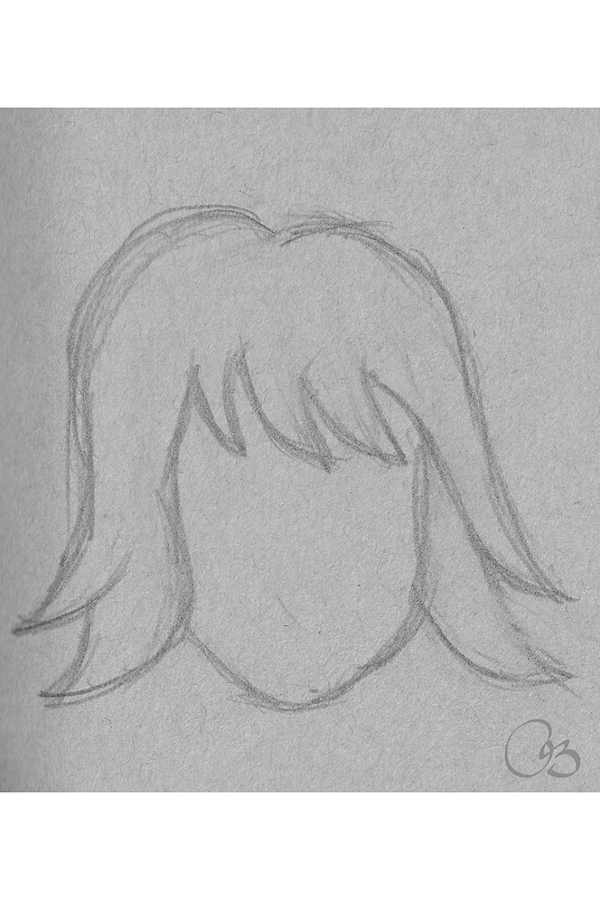 Christine S Whimsical Design 60 Seconds Hair Sketch Hair Sketch Art Drawings Simple Pencil Drawings For Beginners