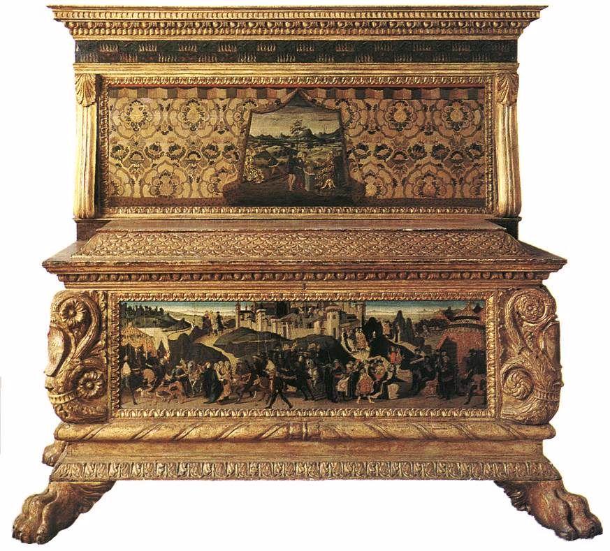 12521 The Nerli Cassone Jacopo Del Sellaio Jpg 873 789 Meuble Italien Gothic Mobilier De Salon
