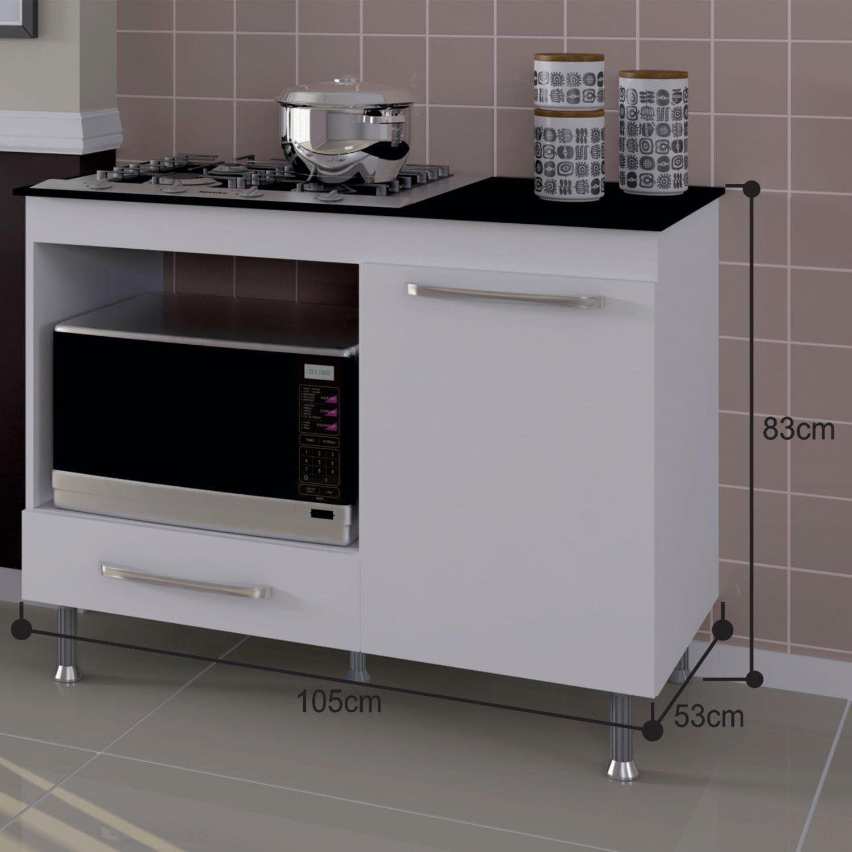 Balcao De Cozinha Para Cooktop 1 Gaveta Indekes Balcao Para