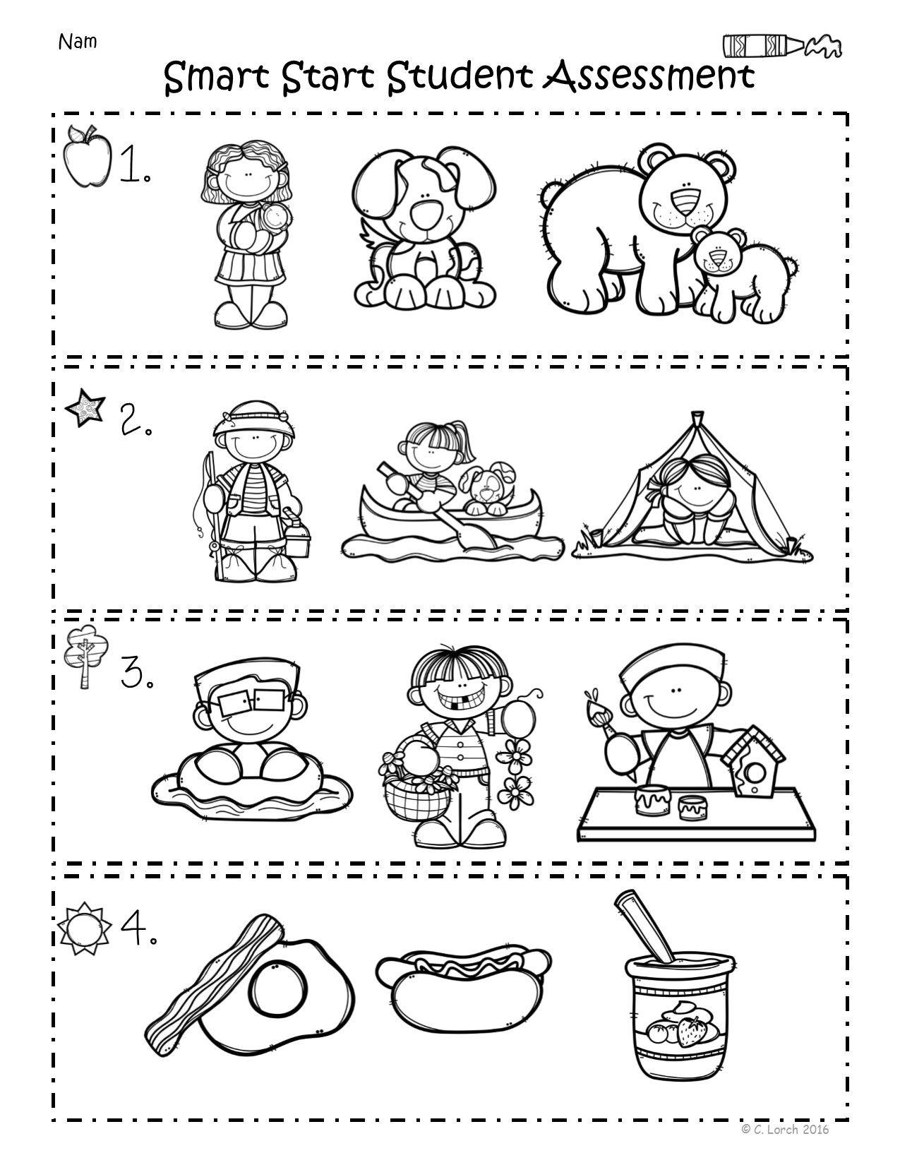 Kindergarten Wonders Smart Start Assessment Packet