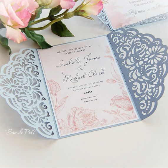 Wedding invitation Template filigree svg dxf cdr by EasyCutPrintPD