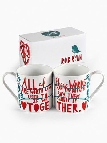 Perfect gift: His and Hers Mug Pair by Rob Ryan