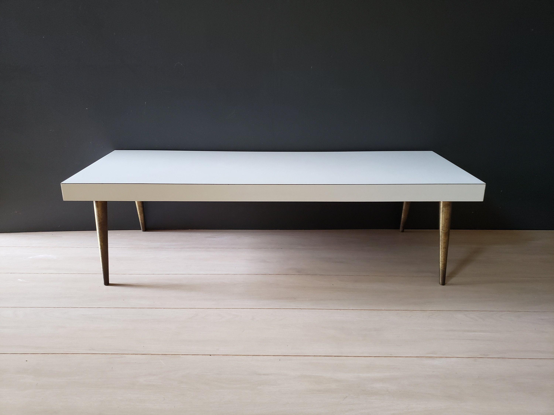 Mid Century Coffee Table Vintage Laminate White Gold Etsy Coffee Table Mid Century Coffee Table Coffee Table Vintage [ 2250 x 3000 Pixel ]