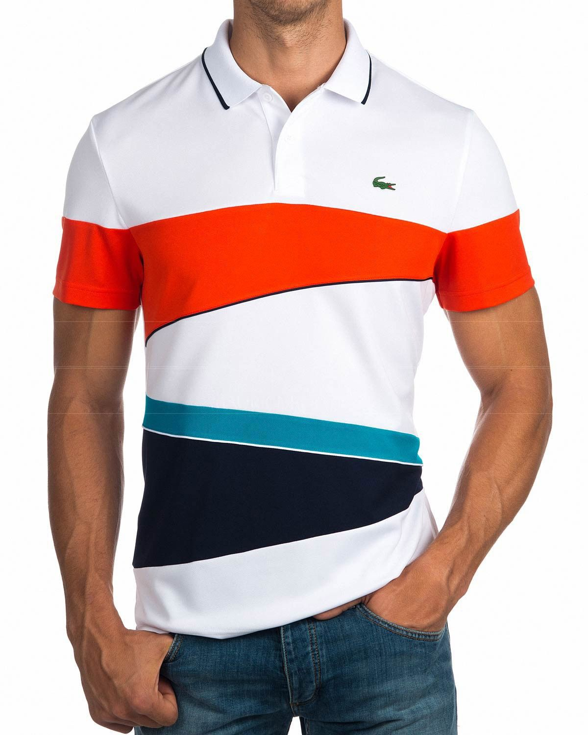 788c1c4863 Polos Lacoste ® Multicolor | ENVIO GRATIS | Cut & Sew(colour block ...