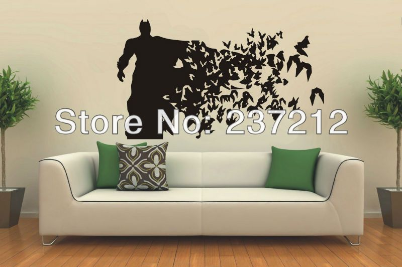 free shipping wall art batman - vinyl wall art decal sticker 60