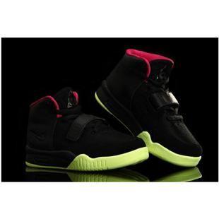 http://www.asneakers4u.com/ Nike Air Yeezy 2 Kids Shoes Black/Solar Red