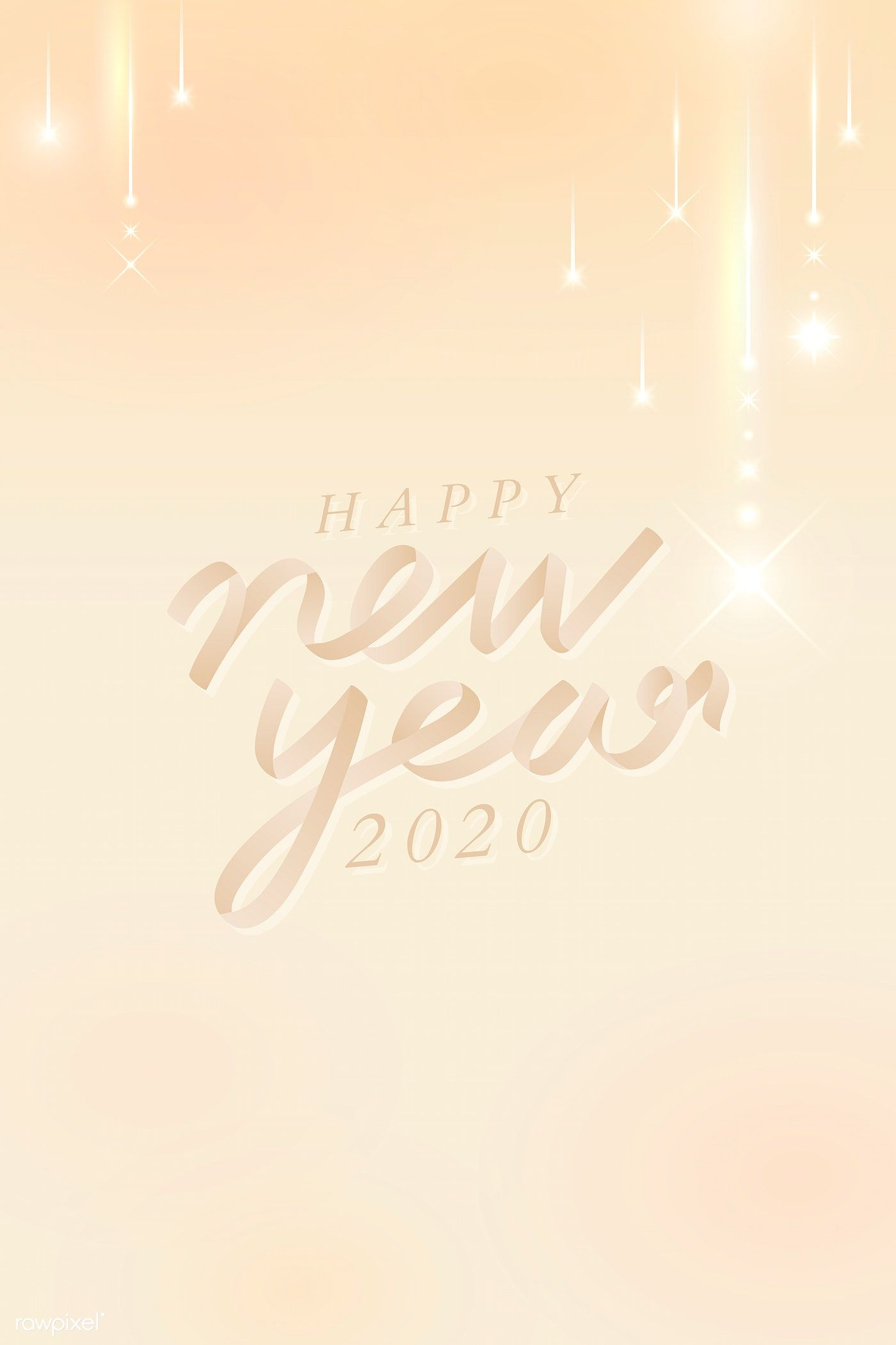 Download Premium Vector Of Happy New Year 2020 Greeting Card Vector 1234406 Happy New Year 2020 Happy New Year Images Happy New Year Cards