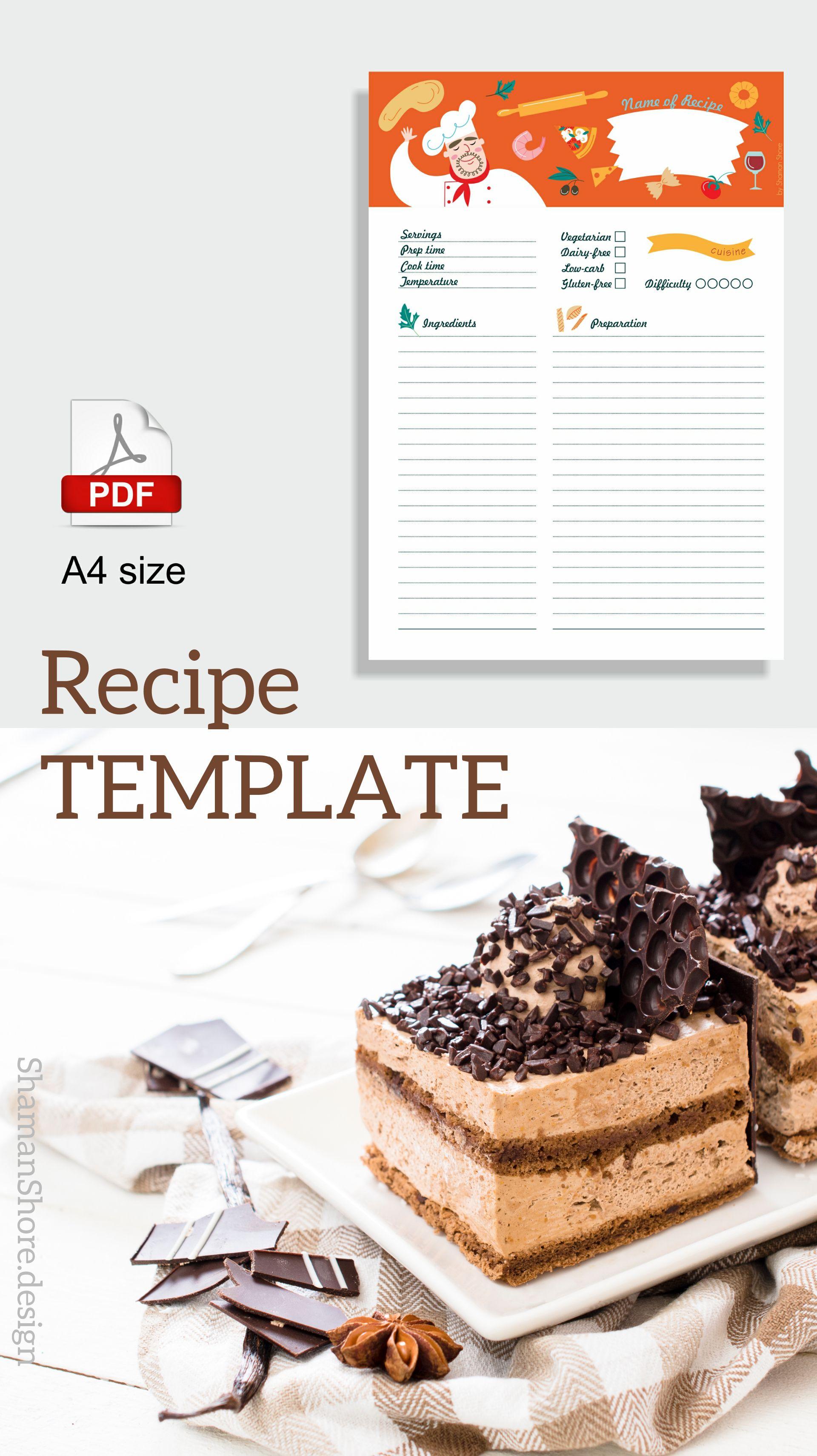 shshprintables fun recipe card 8 x 11 template printable recipe