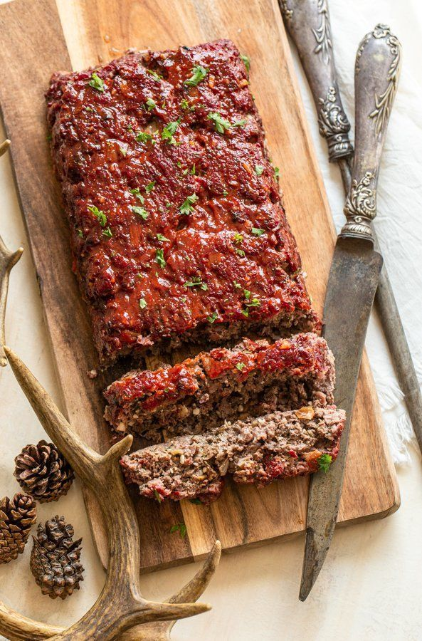 Smokey Venison Meatloaf Oven Smoker Friendly Recipe Deer Meat Recipes Venison Meatloaf Deer Recipes