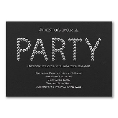 Diamond Diva Bling Party Invitations http://partyblock.carlsoncraft.com/Parties--Celebrations/Birthday-Invitations/3166-NK81876-Diamond-Diva--Invitation.pro