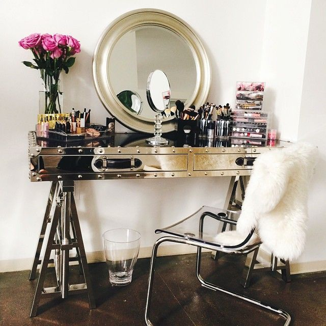 chairs for makeup vanity. Room New Year  Home You a curated beauty spot Acrylic