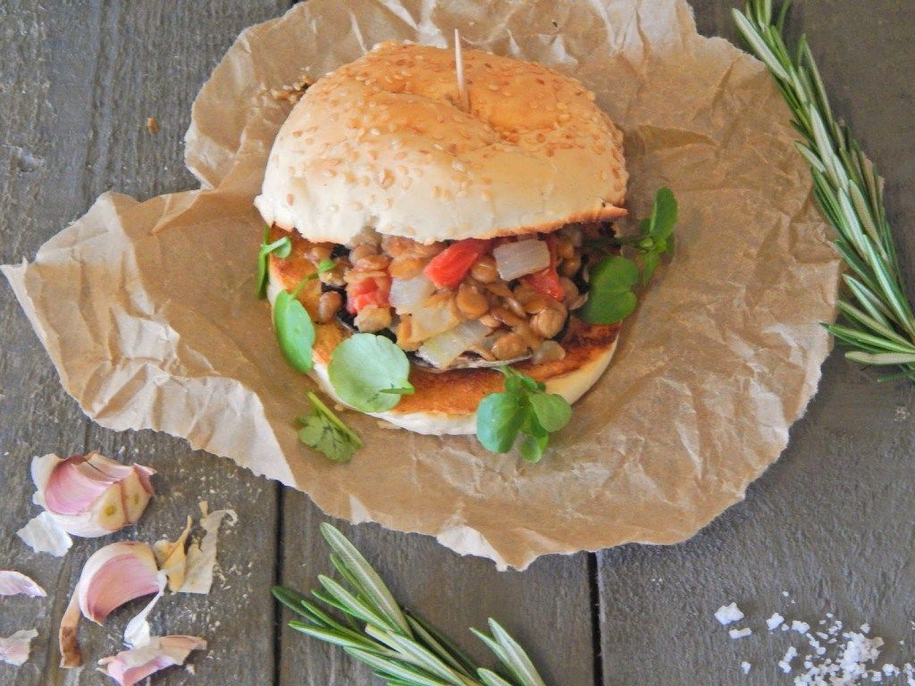 Rosemary Roasted Mushroom Burger