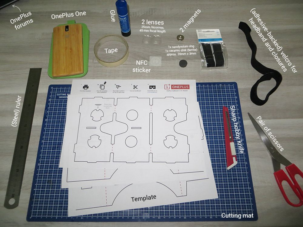 Make your own OnePlus Cardboard VR headset [with template